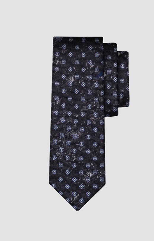 Wełniany krawat w kwiaty LAMBERT