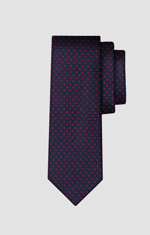 Jedwabny krawat w kropki LAMBERT