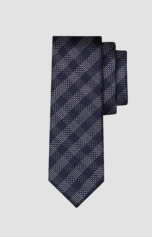 Jedwabny krawat w kratkę