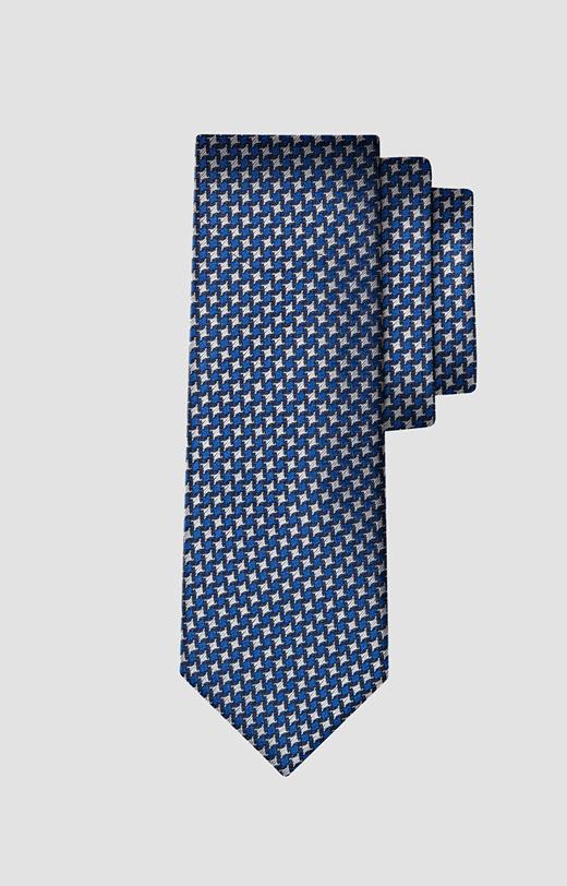 Jedwabny krawat w pepitkę LAMBERT