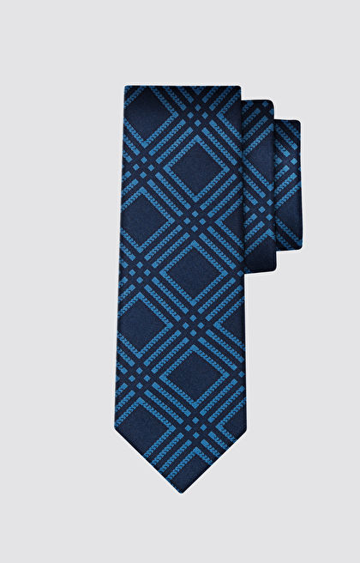 Jedwabny krawat w kratkę LAMBERT
