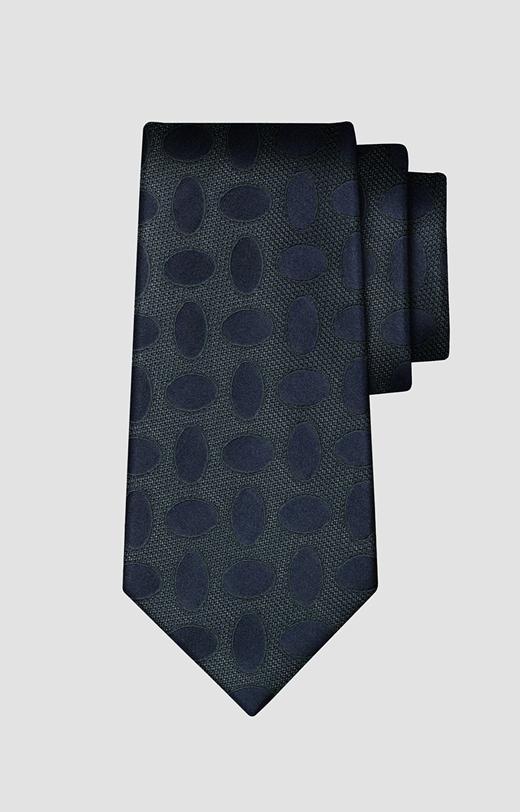 Jedwabny krawat w geometryczny wzór LAMBERT