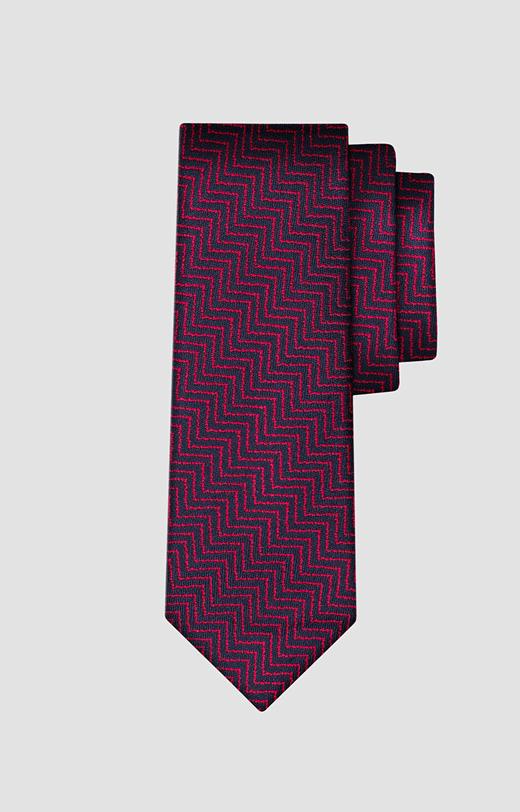 Jedwabny krawat w jodełkę LAMBERT