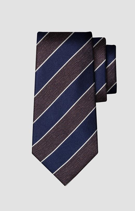 Jedwabny krawat w paski LAMBERT