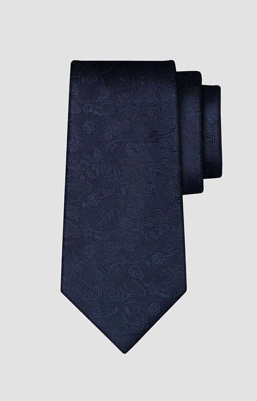 Jedwabny krawat w kwiaty LAMBERT