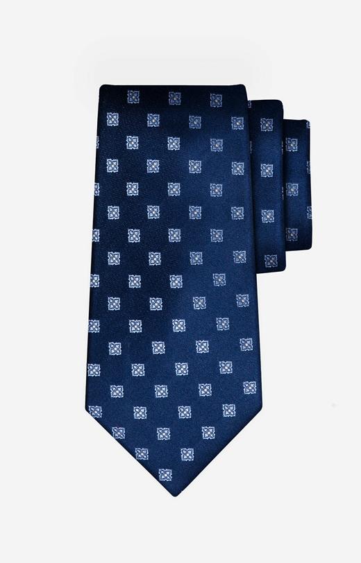 Jedwabny krawat w kwiaty