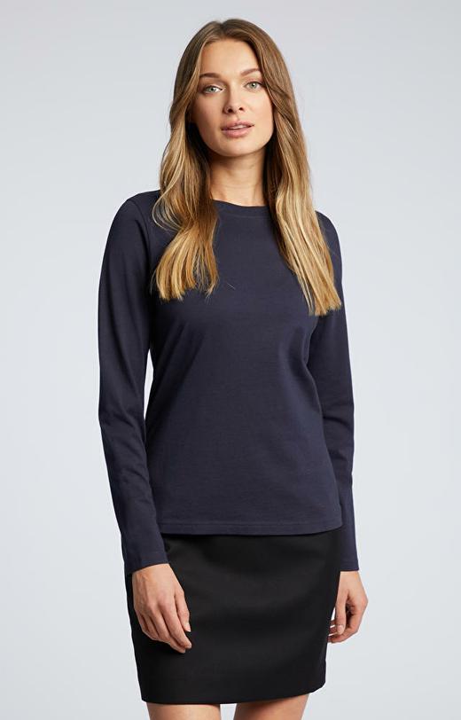 Granatowa koszulka z długim rękawem WÓLCZANKA