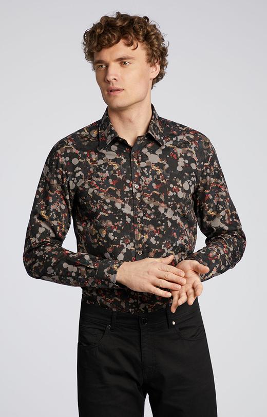 Wzorzysta koszula z bawełny