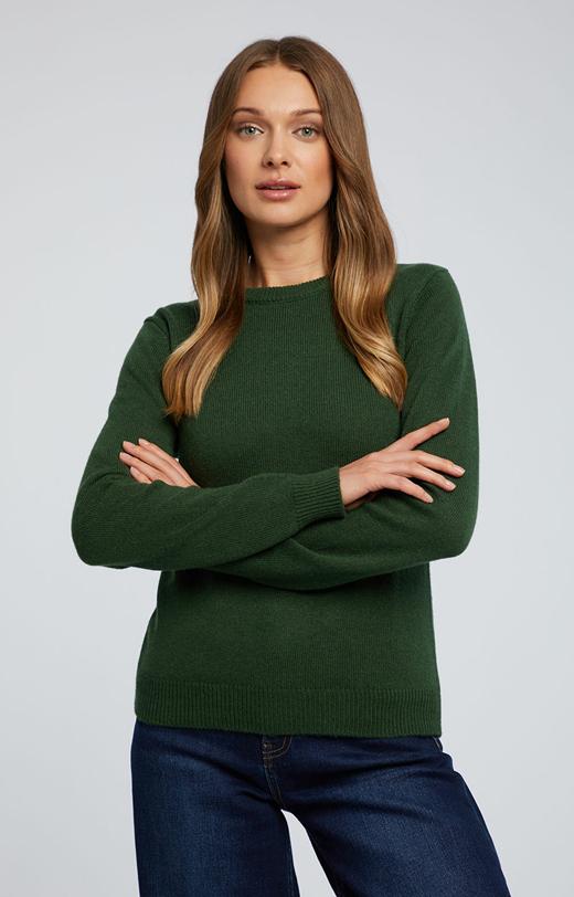 Gładki sweter z alpaką