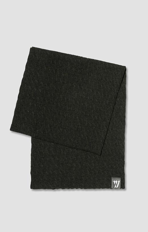 Szalik z wełny merino w kolorze khaki