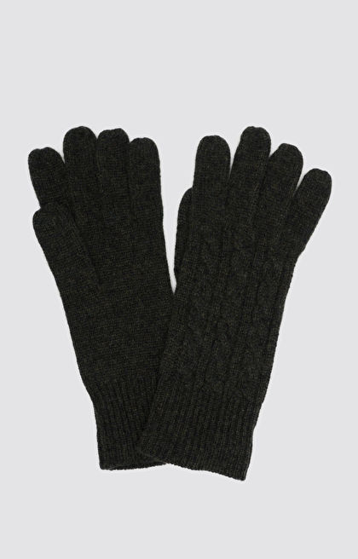 Rękawiczki z wełny merino w kolorze khaki