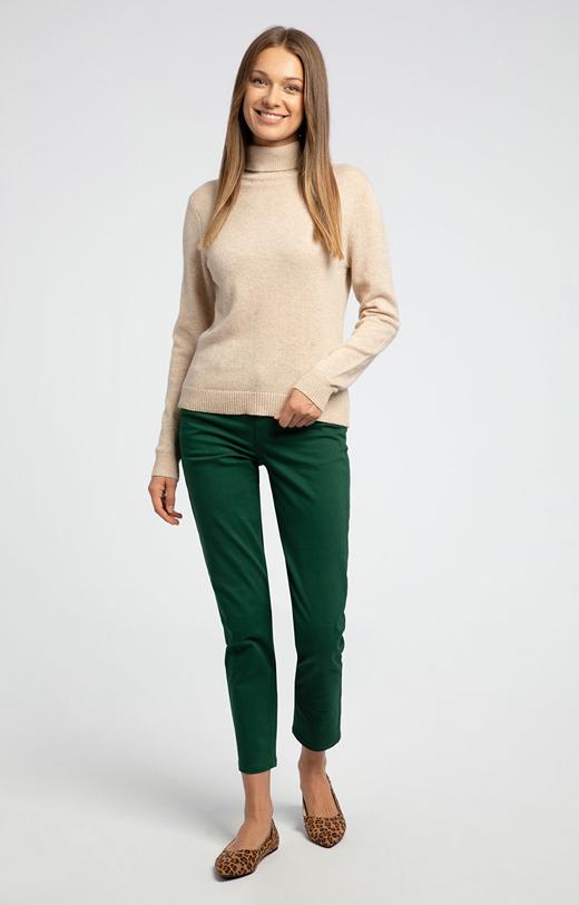 Bawełniane spodnie slim