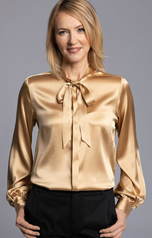 Złota koszula damska LAMBERT