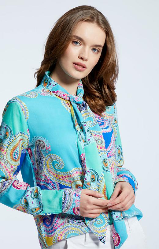 Turkusowa koszula damska LAMBERT