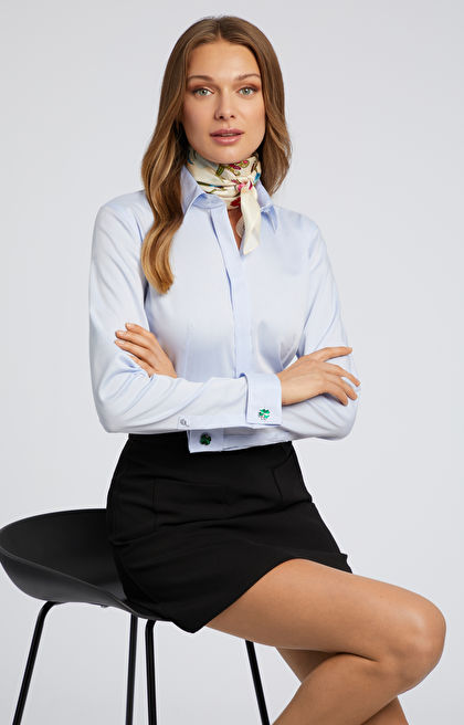 Gładka koszula z lyocellem LAMBERT