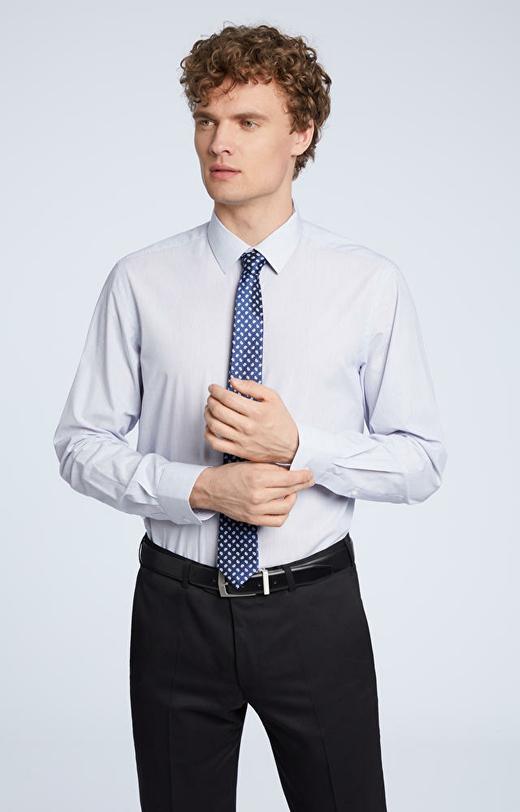 Biznesowa koszula w prążek