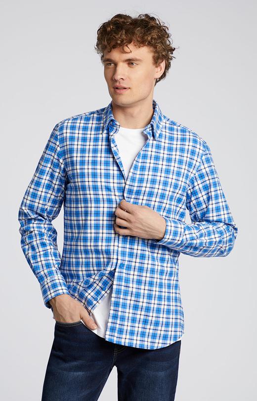 Flanelowa koszula w kratkę