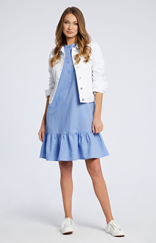 Niebieska sukienka WÓLCZANKA
