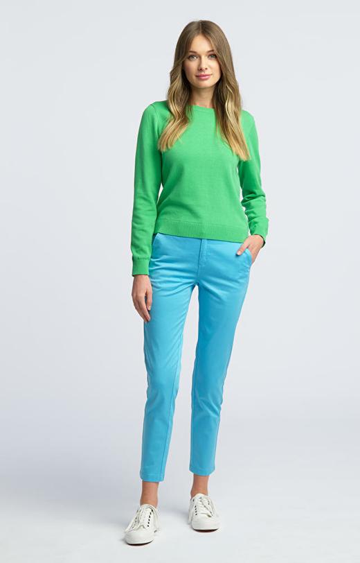 Niebieskie spodnie damskie WÓLCZANKA