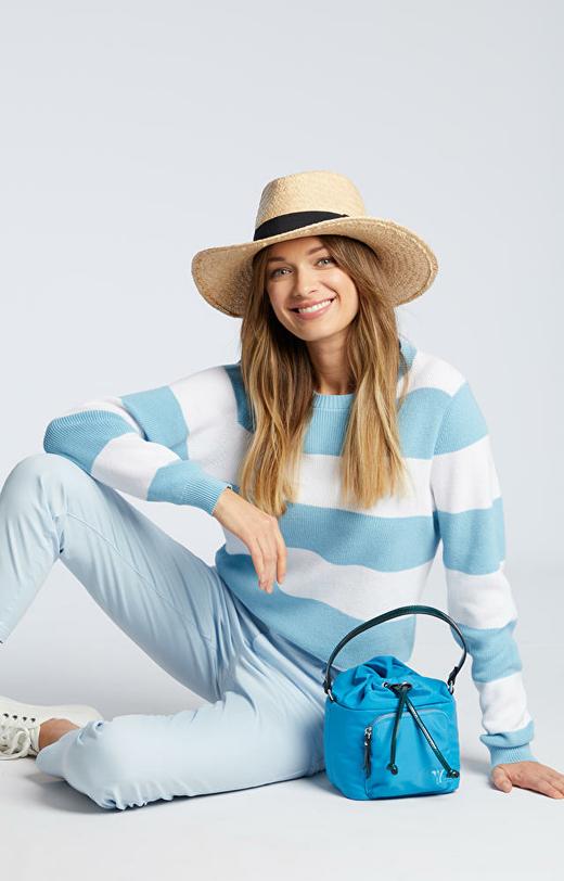 Błękitne spodnie damskie WÓLCZANKA