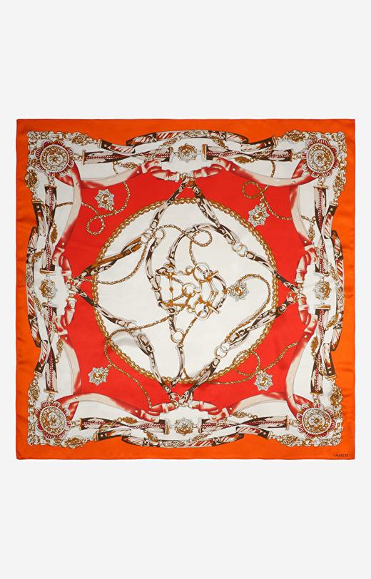 Pomarańczowa chusta LAMBERT