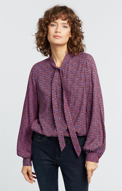 Wzorzysta koszula z wiskozy