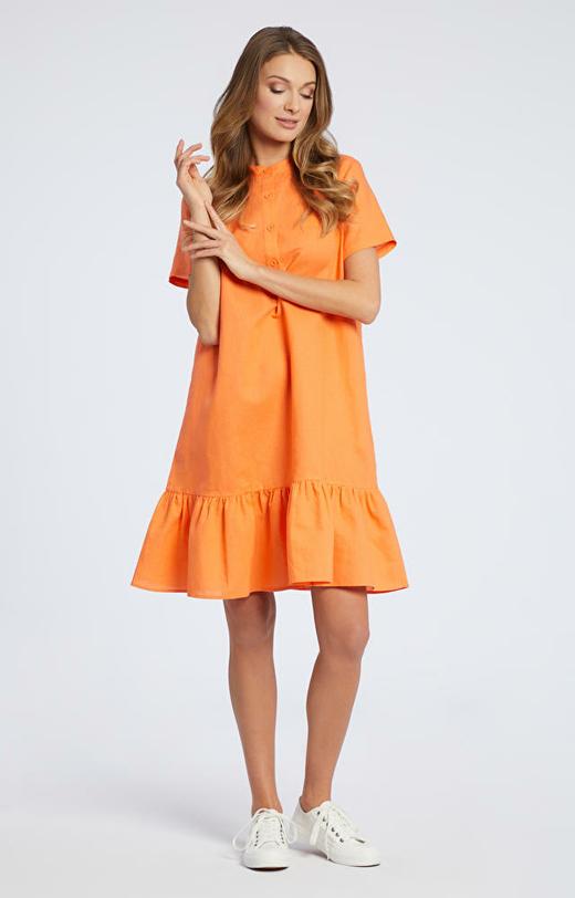 Pomarańczowa sukienka WÓLCZANKA