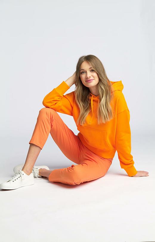 Pomarańczowe spodnie damskie WÓLCZANKA