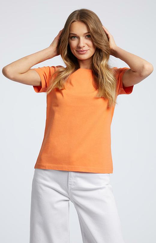Pomarańczowy t-shirt WÓLCZANKA