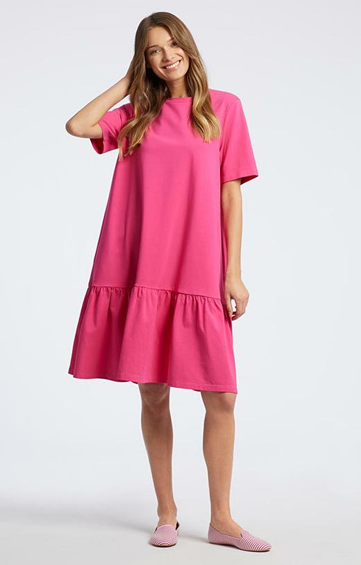 Różowa sukienka WÓLCZANKA