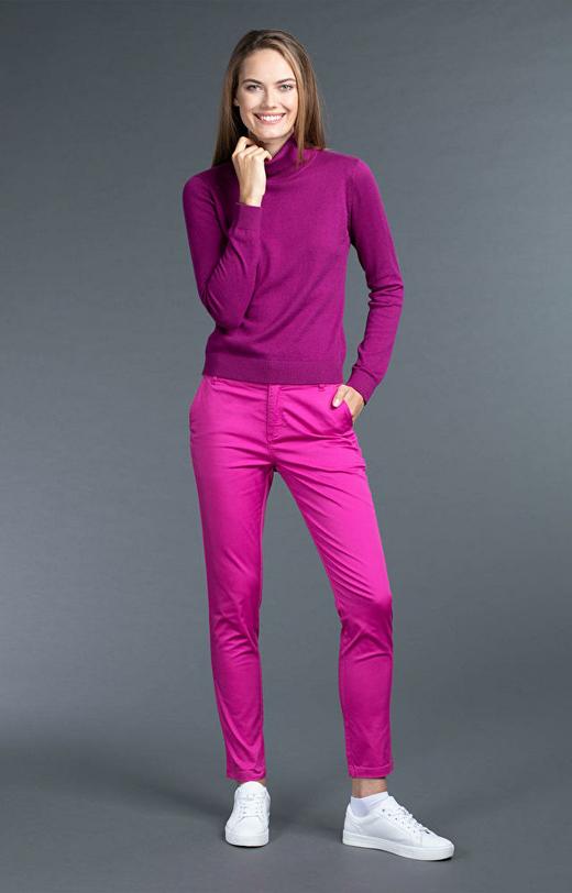 Różowe spodnie damskie WÓLCZANKA