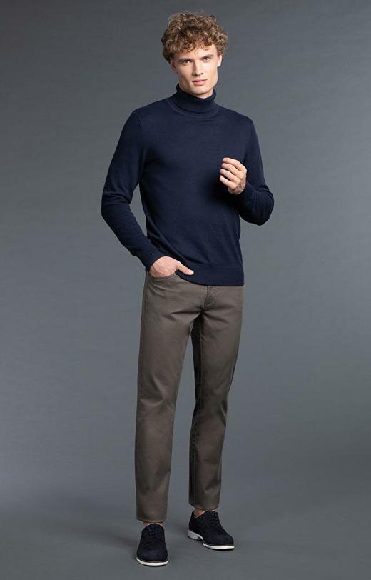 Spodnie męskie khaki WÓLCZANKA