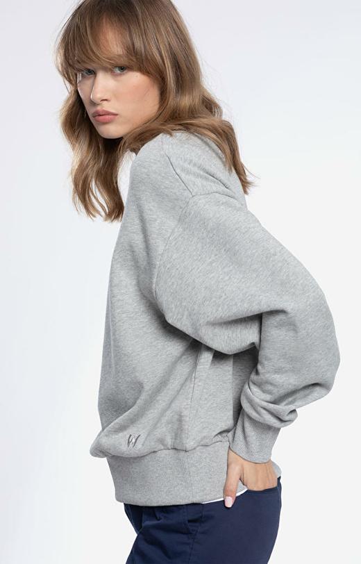 Szara bluza damska WÓLCZANKA