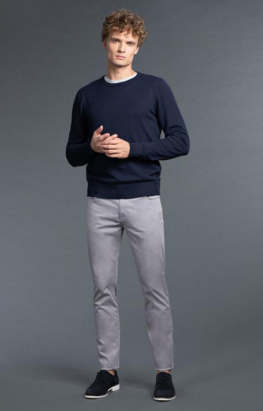Szare spodnie męskie WÓLCZANKA