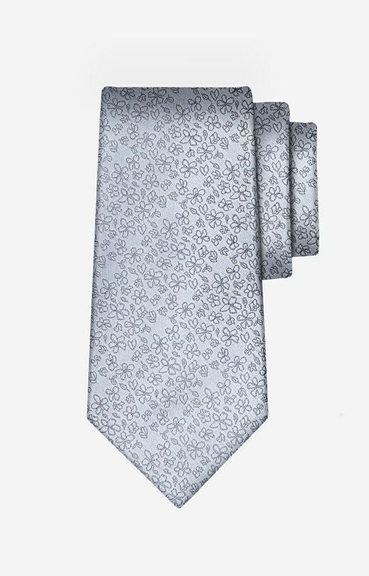 Szary krawat WÓLCZANKA