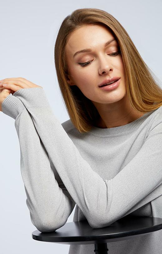 Szary sweter damski WÓLCZANKA