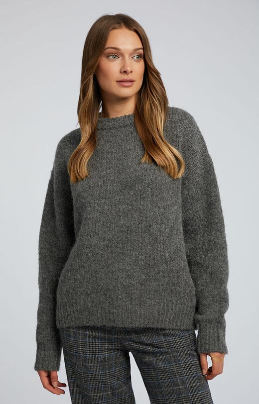 Sweter z miękkiej dzianiny
