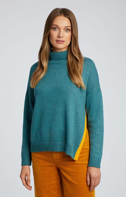 Sweter z golfem z wełną