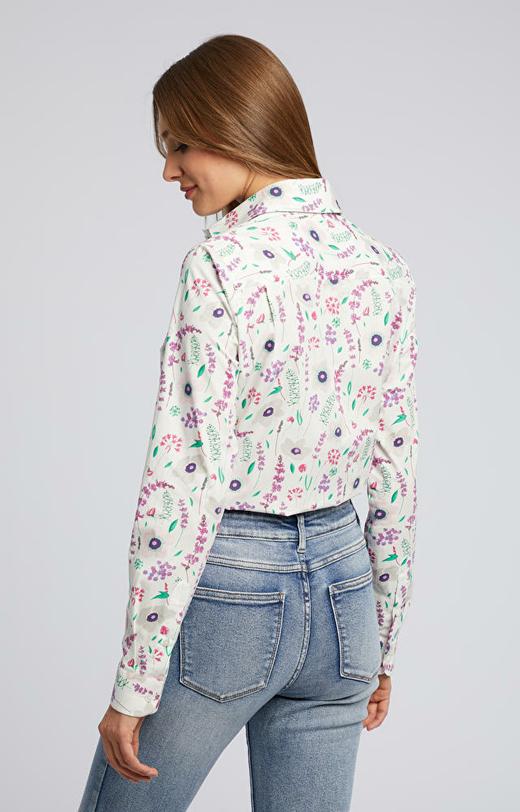 Dziewczęca koszula w kwiatowy wzór