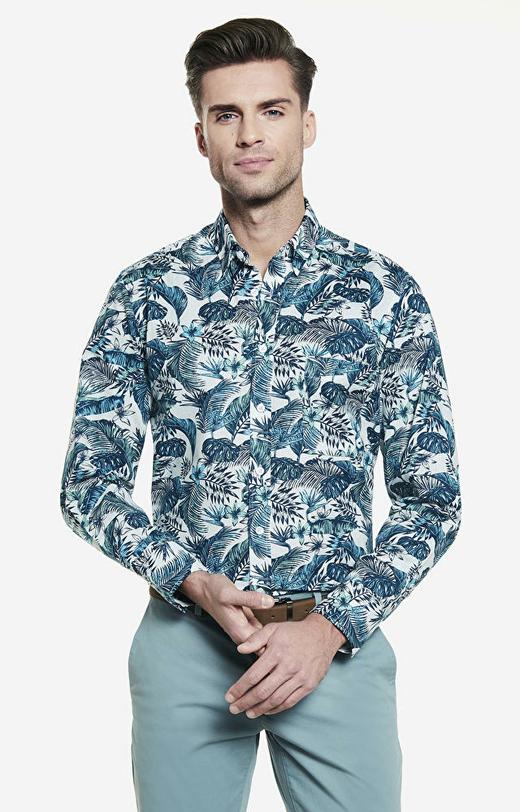 Wielokolorowa koszula męska WÓLCZANKA