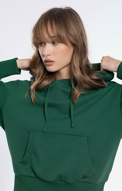 Zielona bluza damska WÓLCZANKA