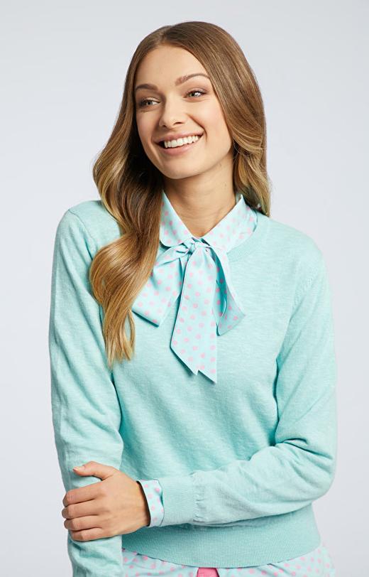 Seledynowa koszula damska WÓLCZANKA