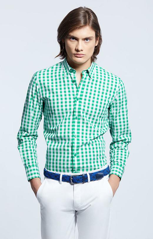Zielona koszula WÓLCZANKA