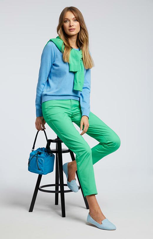 Zielone spodnie damskie WÓLCZANKA